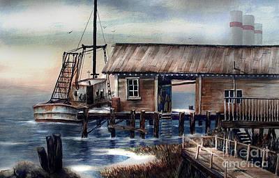 Quiet Pacific Dockside Art Print