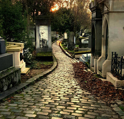 Pere Lachais Cemetery Road Art Print