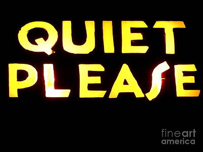 Photograph - Quiet Please by Ed Weidman