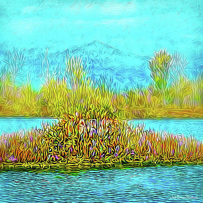Digital Art - Quiet Pond Mood by Joel Bruce Wallach