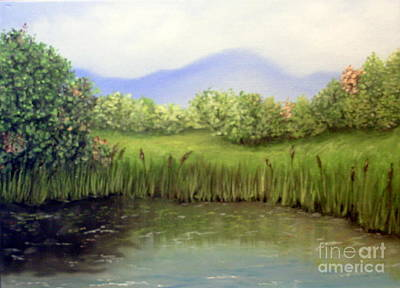 Painting - Quiet Pond by Peggy Miller