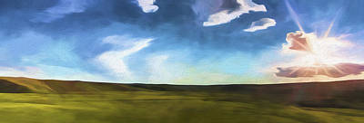 Yellowstone National Park Digital Art - Quiet Prairie II by Jon Glaser