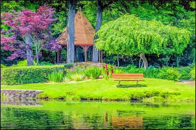 Photograph - Quiet Reflections Shelby Township's Heritage Garden by LeeAnn McLaneGoetz McLaneGoetzStudioLLCcom