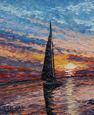 Painting - Quiet Sail - Award Winning by Chrys Wilson