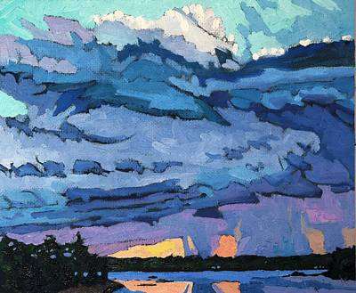 Sunset Painting - Quiet Showers by Phil Chadwick