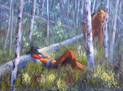 Quiet Siesta Art Print by Debra Mickelson