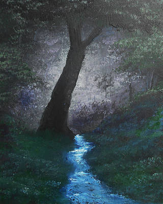 Mixed Media - Quiet Stream by Angela Stout