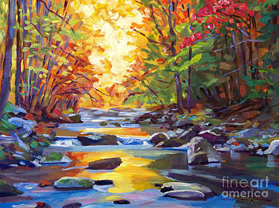 Painting - Quiet Stream by David Lloyd Glover