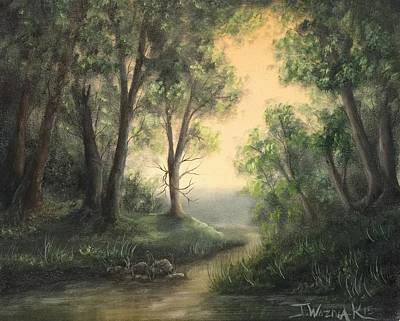 Painting - Quiet Stream  by Justin Wozniak