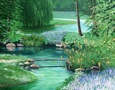 Painting - Quiet Stream by Keith Wilkie