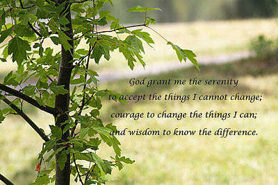 Photograph - Quiet Thoughts Serenity Prayer  by Jennifer Muller