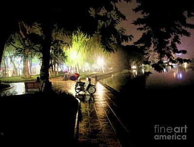 Kiem Photograph - Quiet Time Hanoi Hoan Kiem Lake  by Chuck Kuhn