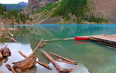 Moraine Lake I, Alberta Art Print by Heather Vopni
