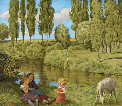 Bach Painting -  Quiet Waters by Hans Thoma