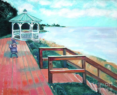 Online Shopping Painting - Quiet Waters Park by Karen Francis