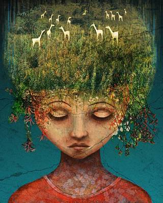 Surrealism Wall Art - Digital Art - Quietly Wild by Catherine Swenson