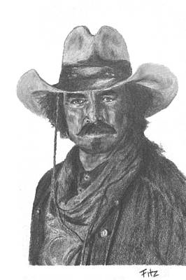 Drawing - Quigley by Rick Fitzsimons