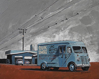 Back Road Painting - Quik Smog by Steve Beaumont