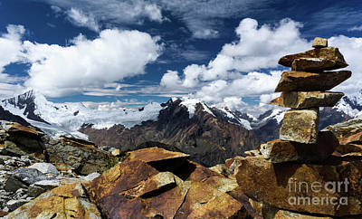 Andes Wall Art - Photograph - Quilcayhuanca Cairn by DiFigiano Photography