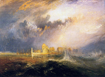 Great Wave Painting - Quillebeuf, At The Mouth Of Seine by JMW Turner