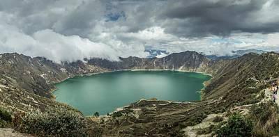 Photograph - Quilotoa Volcano Crater In Ecuador by Alexandre Rotenberg