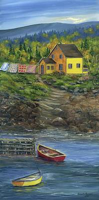 Newfoundland Quilt Painting - Quilt Day - Newfoundland by Kimberly Ropson