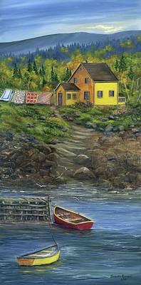 Quilt Day - Newfoundland Art Print