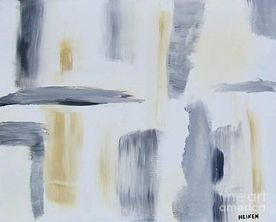 Loose Painting - Quilt Gray And Tan by Marsha Heiken