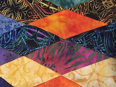 Photograph - Quilt In Batiks by Christin Brodie
