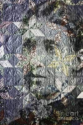 Homemade Quilts Photograph - Quilt Portrait by Jean OKeeffe Macro Abundance Art