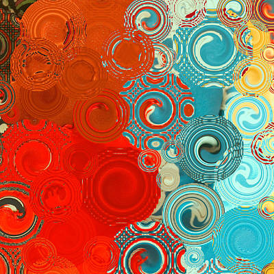 Contemporary Abstract Digital Art - Quilt Seeds No2 by Bonnie Bruno