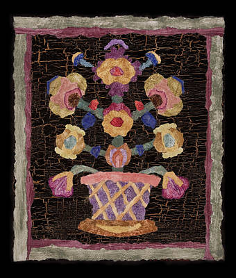 Folk Art Mixed Media - Quilt Square Number One by Jean Wright