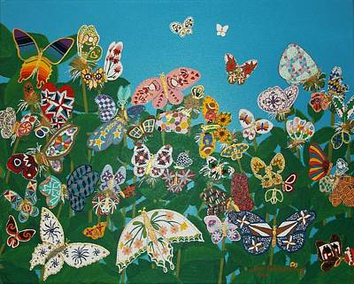 Quilted Butterflies Original by Joni Waybright