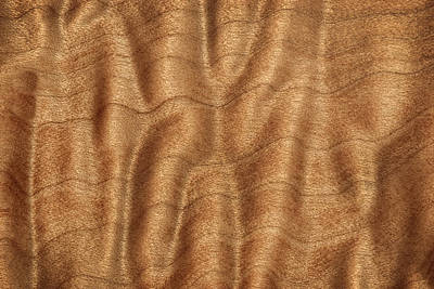Photograph - Quilted Grain Pttern O Big Leaf Maple Wood Natural Abstract by Phil Cardamone
