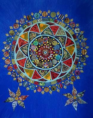 Mixed Media - Quilted Mandala by Bob Craig