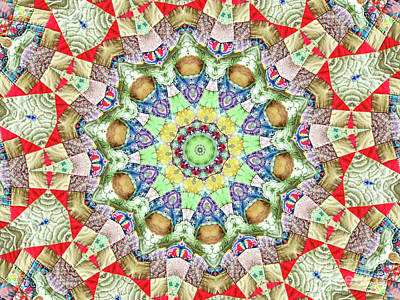 Photograph - Quilted Medallion by Shirley Moravec
