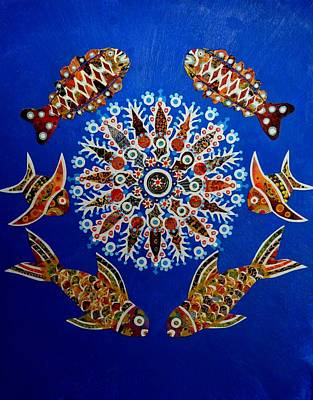 Mixed Media - Quilted Reef by Bob Craig