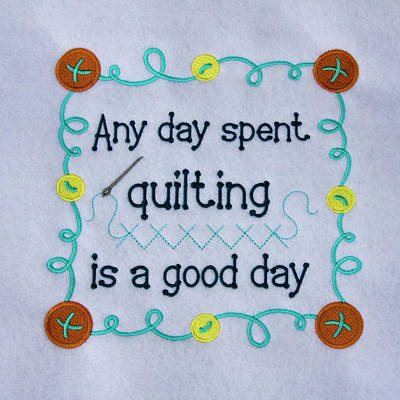 Quilting Machine Photograph - Quilting Sign by Sally Weigand