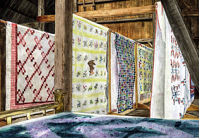 Quilts Print by Vicky Lilla