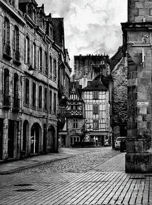 Quimper Street Brittany France Art Print by Lynn Bolt