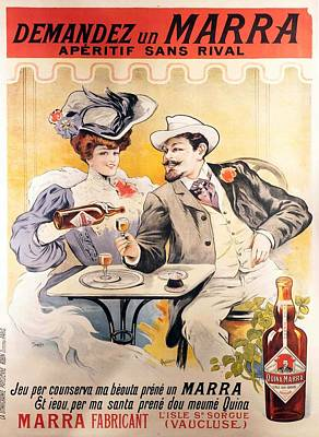 Royalty-Free and Rights-Managed Images - Quina Marra Fabricant - Aperitif - Vintage French Drink advertising poster - By Francisco Tamagno by Studio Grafiikka