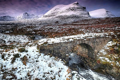 Photograph - Quinag And Old Road Bridge by Chris Puddephatt