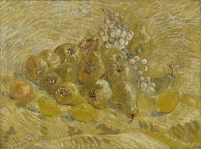 Painting - Quinces, Lemons Pears And Grapes Paris, September - October 1887 Vincent Van Gogh 1853  1890 by Artistic Panda