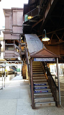 Photograph - Quincey L Station, Chicago by Zac AlleyWalker Lowing