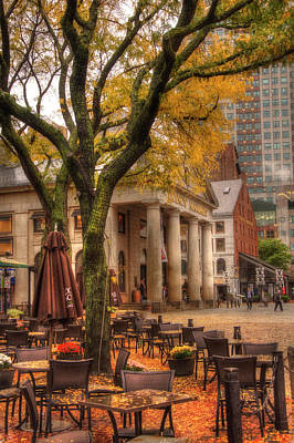 Photograph - Quincy Market Autumn - Boston by Joann Vitali