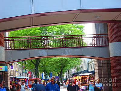 Photograph - Quincy Market Boston Usa America by Navin Joshi
