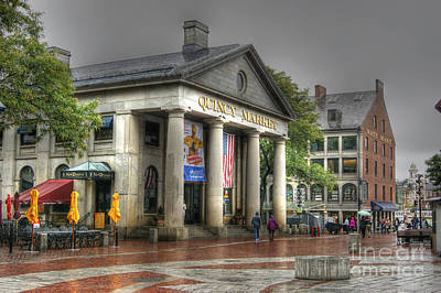 Photograph - Quincy Market On A Wet Day by David Birchall