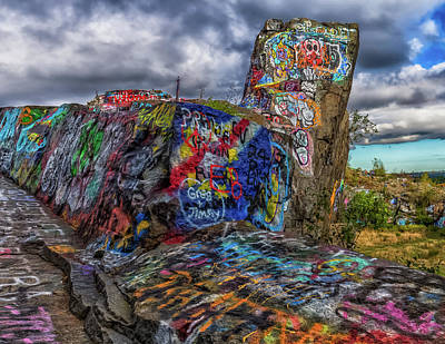 Quincy Quarries Graffiti Art Print