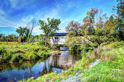 Photograph - Quinlan Covered Bridge by Deborah Klubertanz