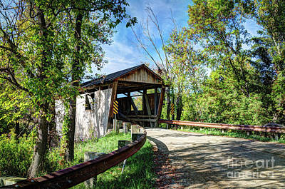 Photograph - Quinlan Covered Bridge II by Deborah Klubertanz